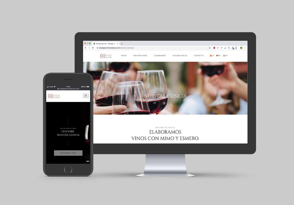 Página web de Bodegas Antonio Alcaraz
