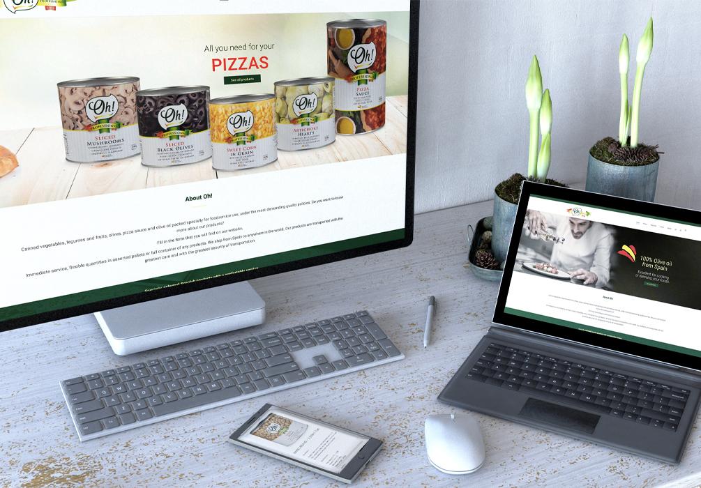 Página Web Oh Products