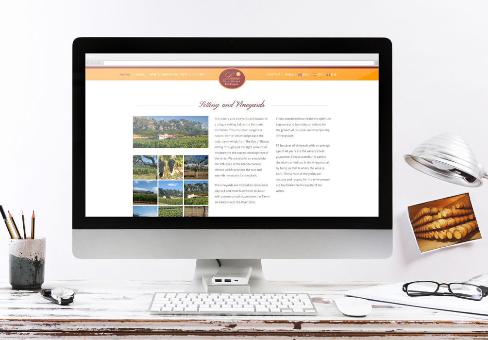 Página Web Bodegas Launa